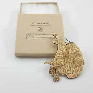 SML- Mt Baker Topography Ornament