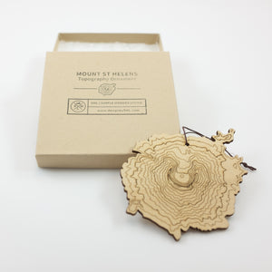 SML- Mt St Helens Topography Ornament