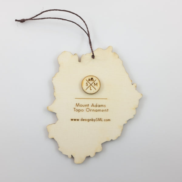 SML- Mt Adams Topography Ornament