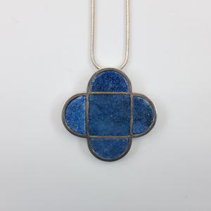 Milan Heger- Lapiz Lazuli and White Rhodium Plated Pendant