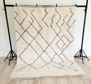 Hand knotted beni Ourain rug DOONYA