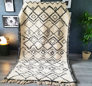 Hand knotted beni Ourain rug ABLA