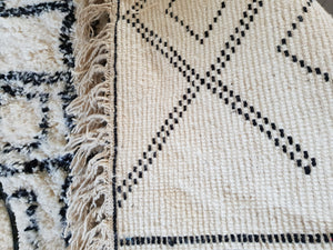 Beni Ourain rug ABLA with Finest quality handspun wool