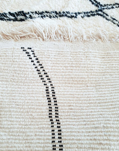 Beni Ourain rug ANANDA with Finest quality handspun wool