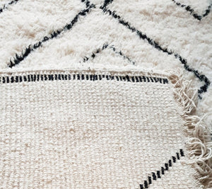 Beni Ourain rug HINDA with Finest quality handspun wool