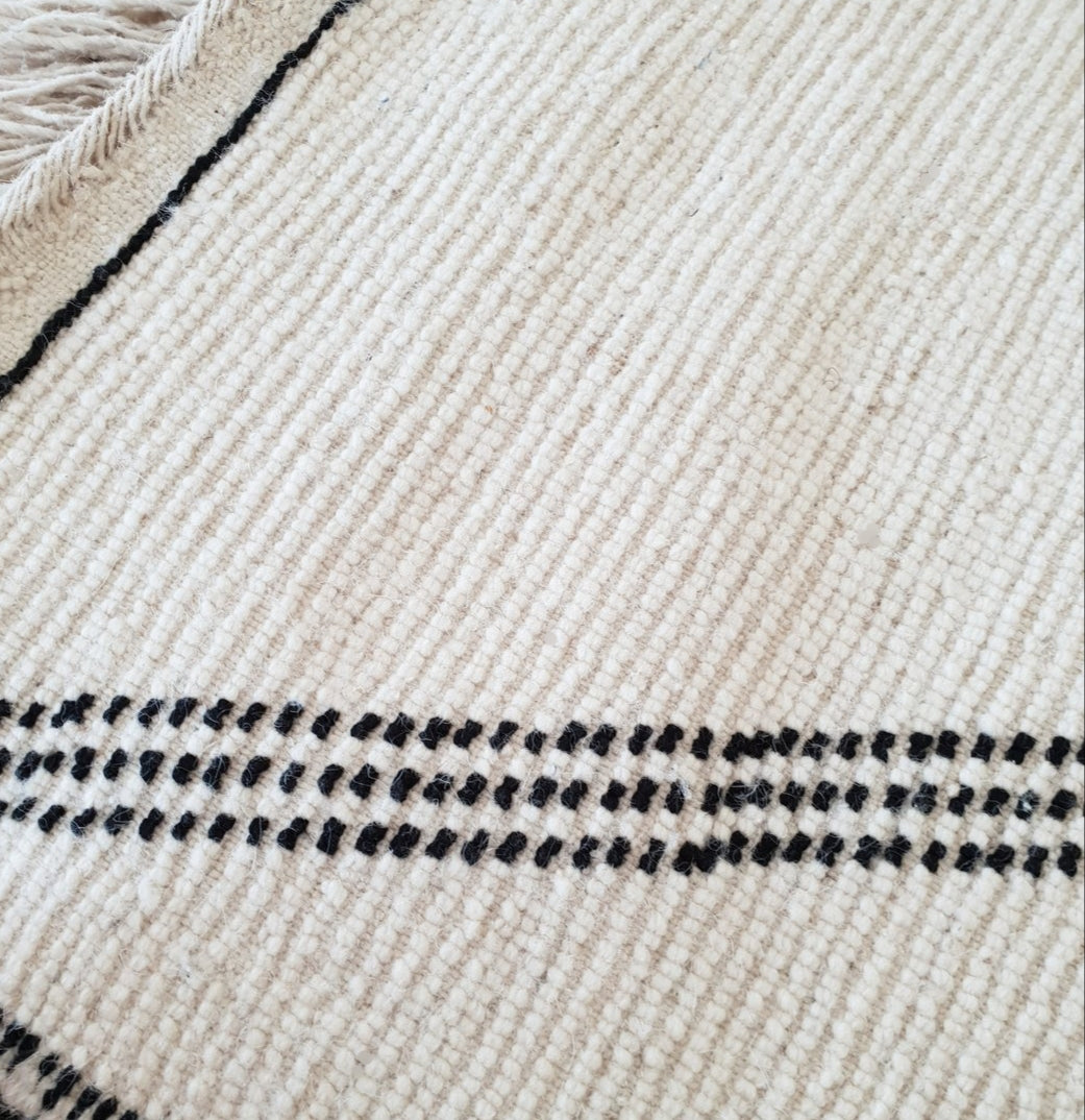 Beni Ourain rug DINA with Finest quality handspun wool