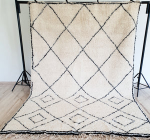 Hand knotted Beni Ourain rug SARAH