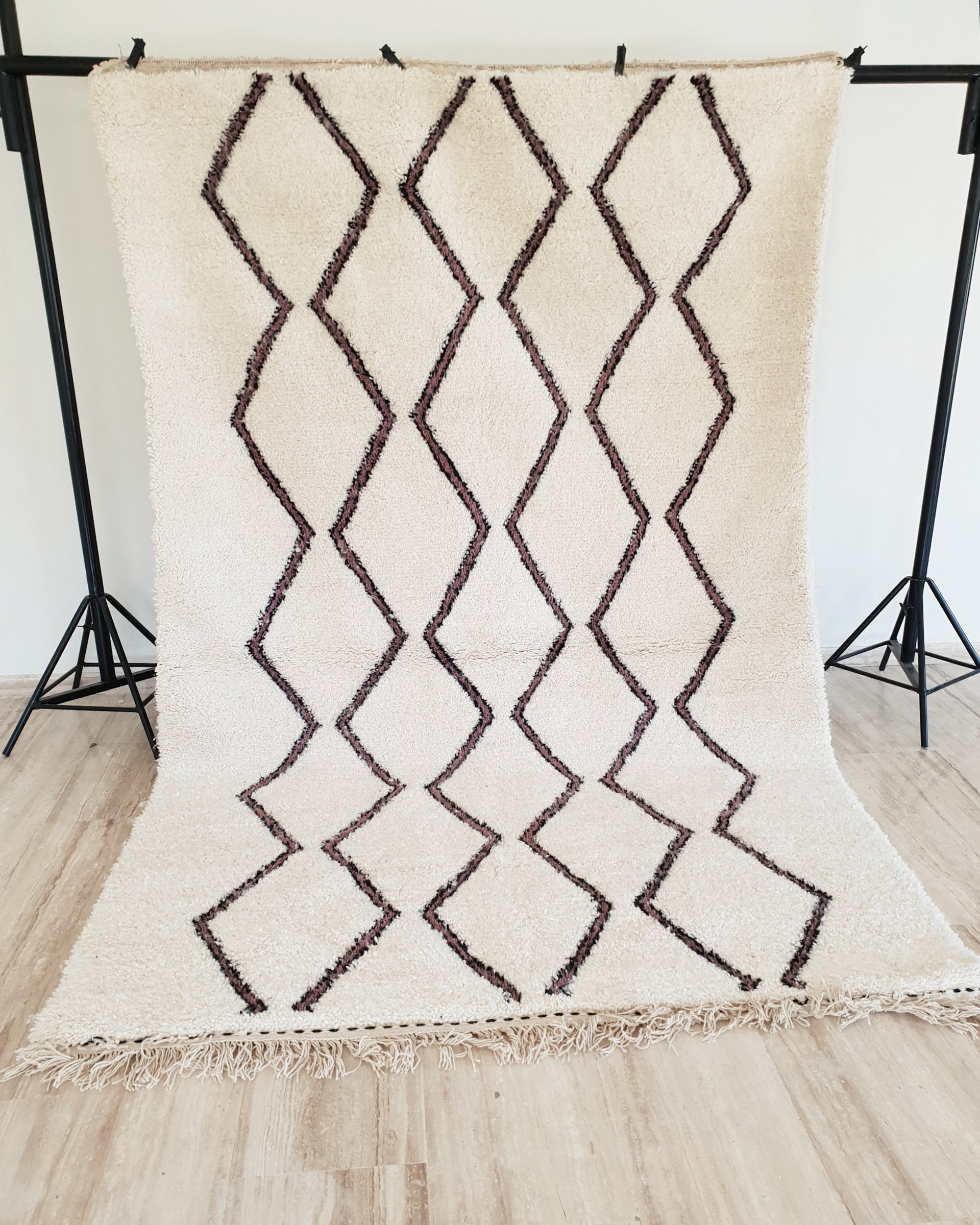 Hand knotted beni Ourain rug MANAR