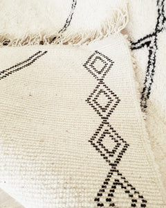 Berber rug backside