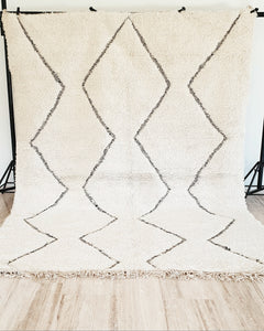 Hand knotted beni Ourain rug BATOOL