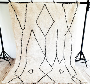 Hand knotted beni Ourain rug YOUSRA