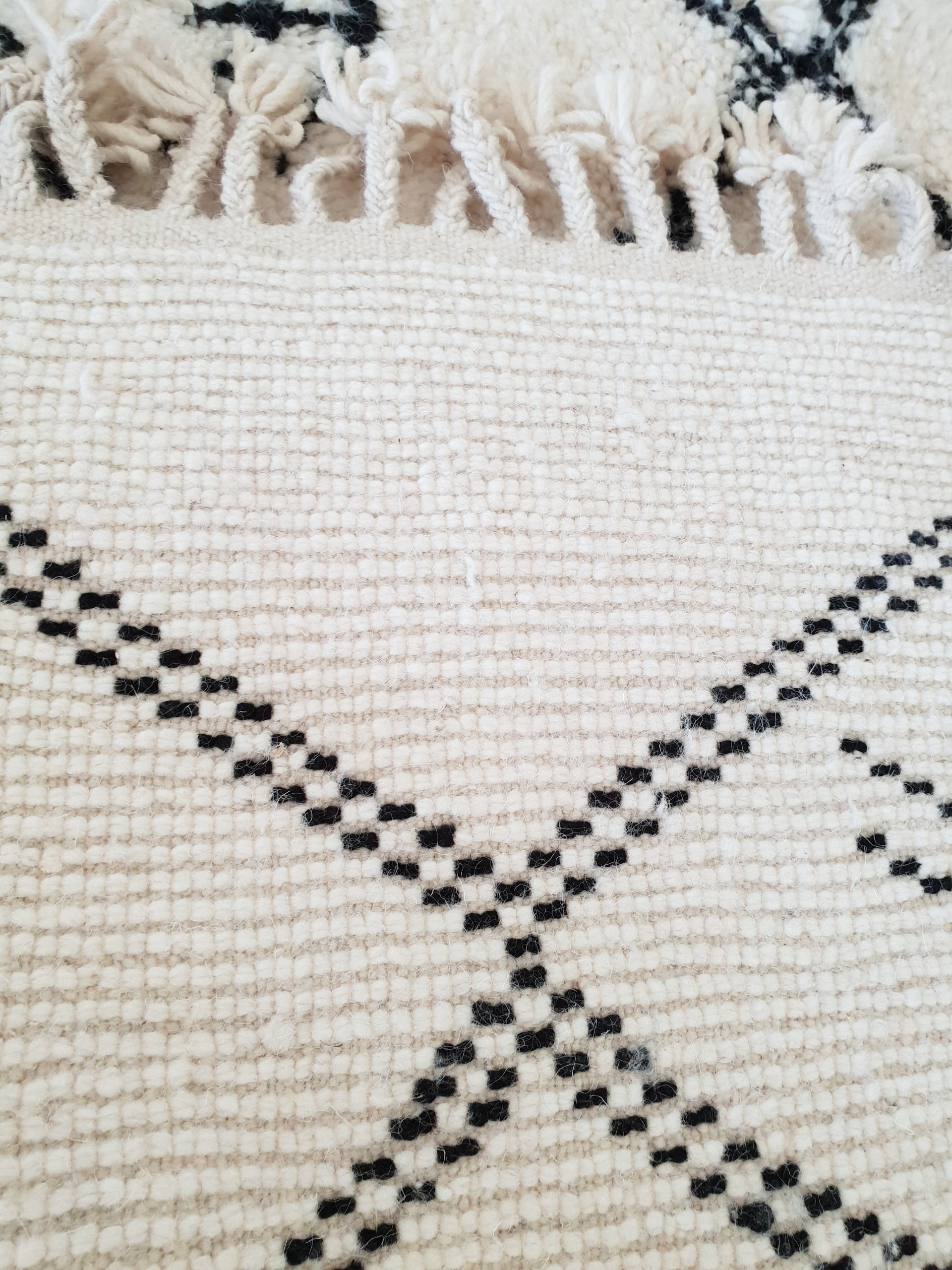 Beni Ourain rug NASSIRA with Finest quality handspun wool