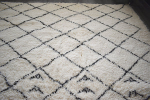 Beni Ourain rug DALIA with Finest quality handspun wool