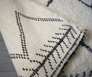Beni Ourain rug AZIZA with Finest quality handspun wool