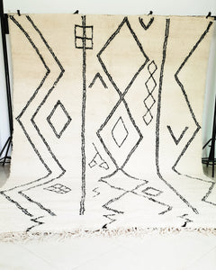 Hand knotted beni Ourain rug YARA