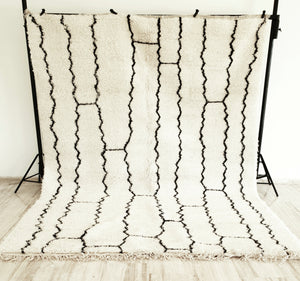 Hand knotted beni Ourain rug SALIMA