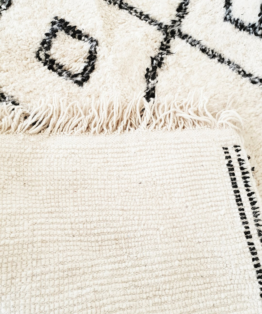 Beni Ourain rug SAMIA with Finest quality handspun wool