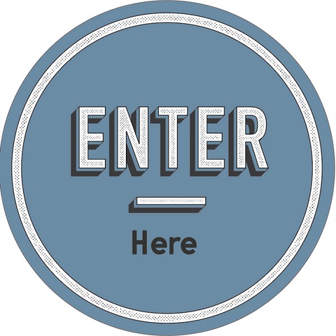 Enter Here-Floor decal-indiesigns