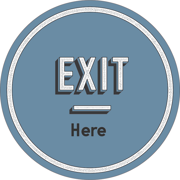 Exit Here-Floor decal-indiesigns