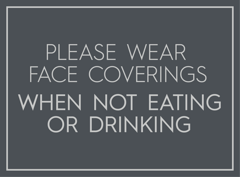 Face Covering When Not Eating-Poster-indiesigns