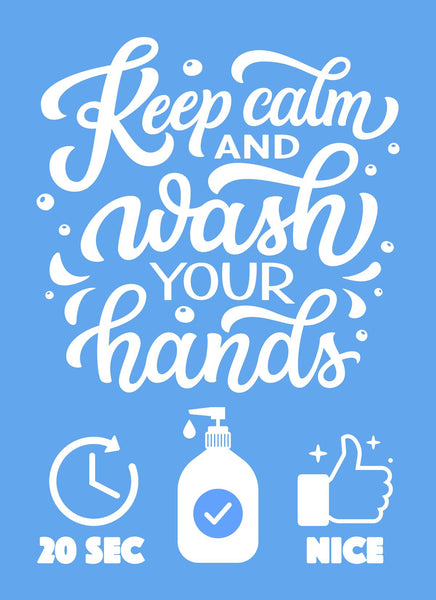 Keep Calm, Wash Your Hands-Poster-indiesigns