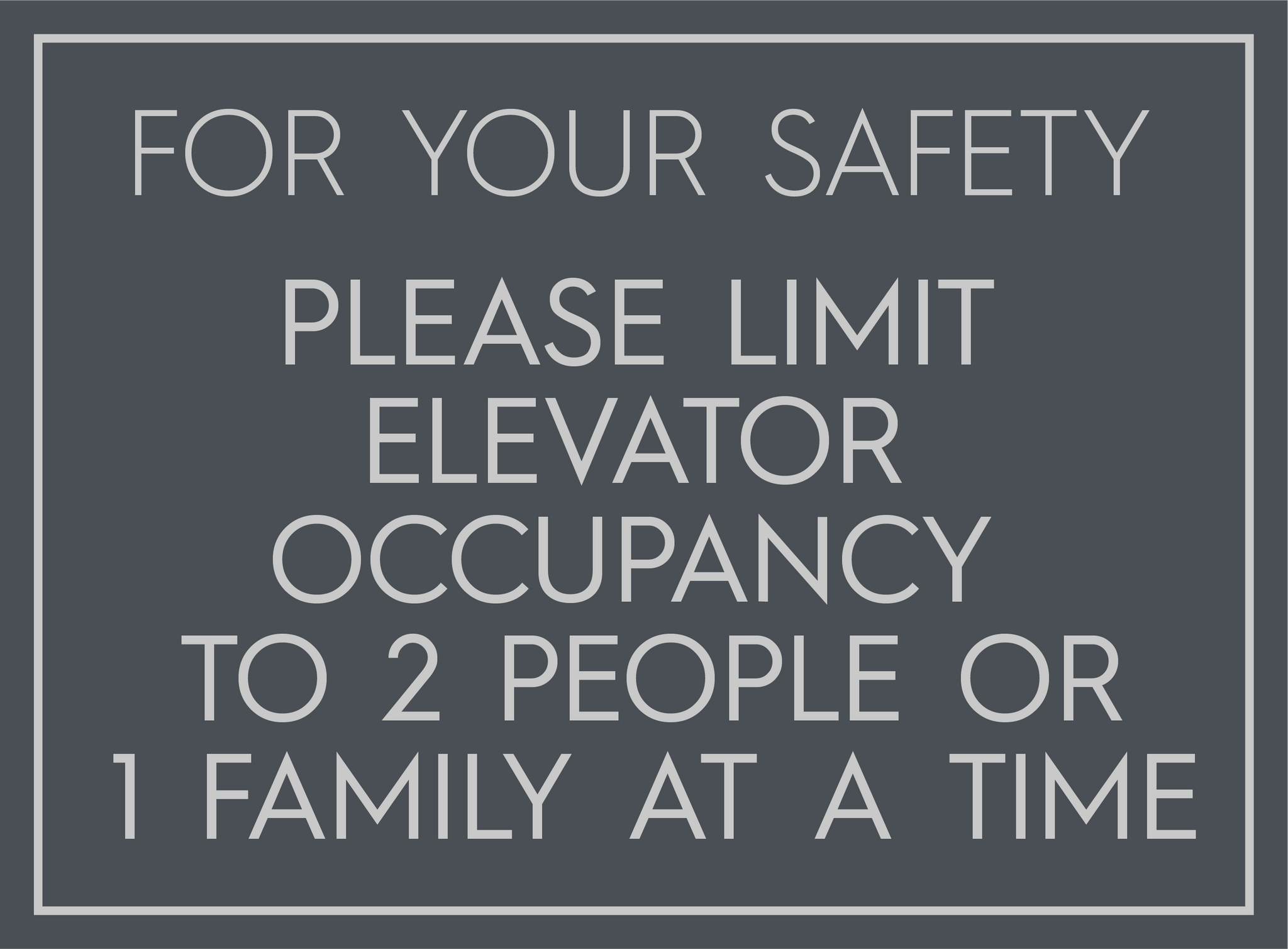 Limit to 2 People or 1 Family-Poster-indiesigns