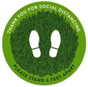 Natural Green Social Distance - HGH-Floor decal-indiesigns