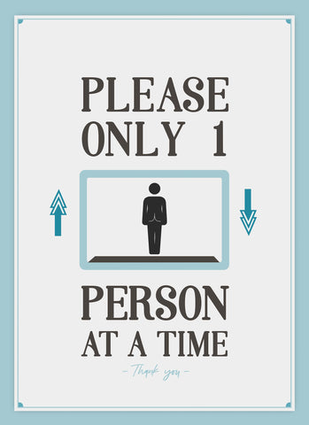 Only 1 Person At A Time-Poster-indiesigns