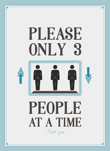 Only 3 People At A Time-Poster-indiesigns