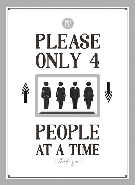 Only 4 People At A Time - HGH-Poster-indiesigns
