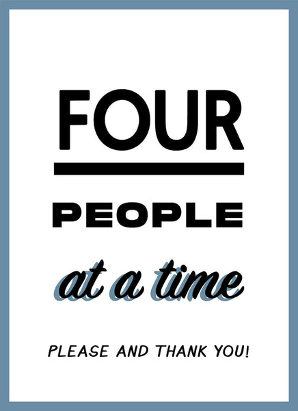 Only 4 People At A Time-Poster-indiesigns
