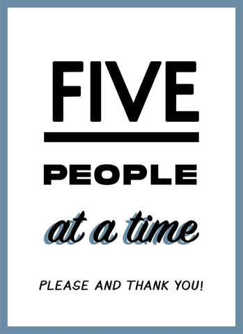 Only 5 People At A Time-Poster-indiesigns