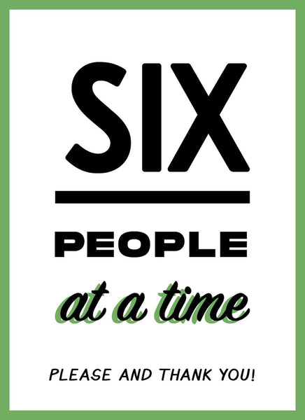 Only 6 People At A Time-Poster-indiesigns