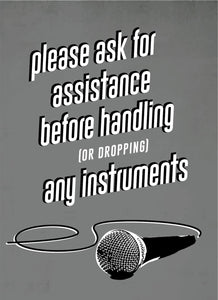 Please Ask for Assistance-Music Poster-indiesigns