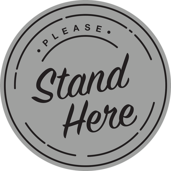 Please Stand Here Floor Decal