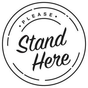 Please Stand Here Floor Decal-Floor decal-indiesigns