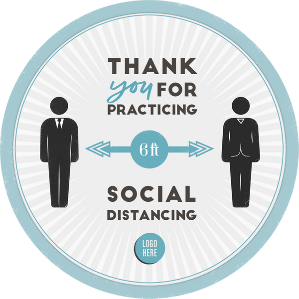 Practicing Social Distancing - HGH-Floor decal-indiesigns