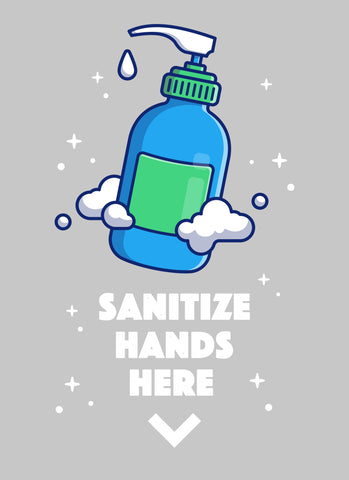 Sanitize Hands Here-Poster-indiesigns