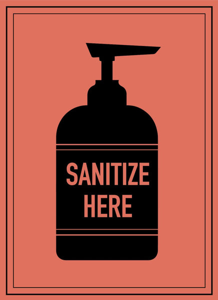 Sanitize Here-Poster-indiesigns