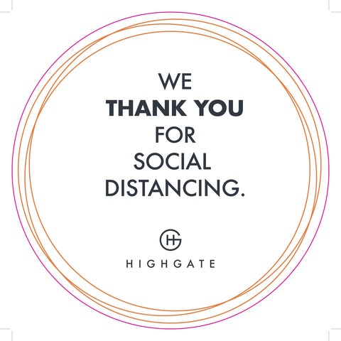Social Distancing Floor Decals with Corporate Logo - HGH-Floor decal-indiesigns