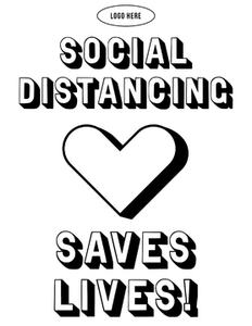 Social Distancing Saves - HGH-indiesigns