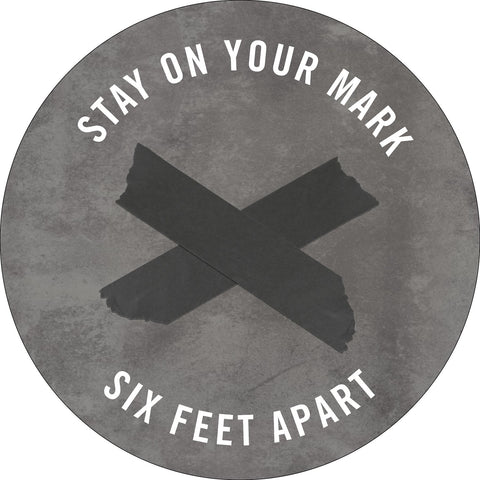 Stay On Your Mark-Music floor decals-indiesigns