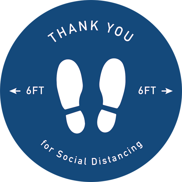 Thank You For Social Distancing-Floor decal-indiesigns