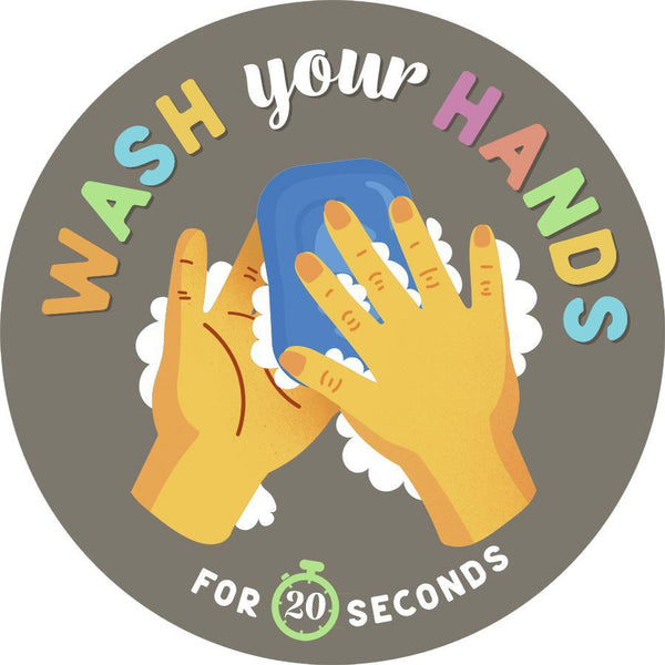 Wash Hands Mirror Decal-Sticker-indiesigns