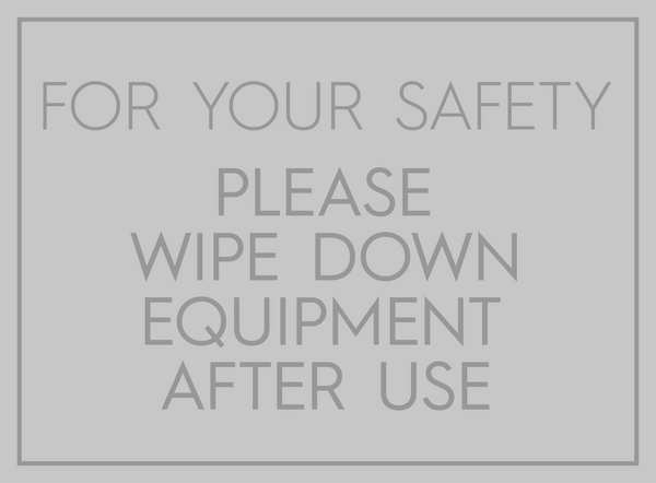 Wipe Down Equipment-Sticker-indiesigns