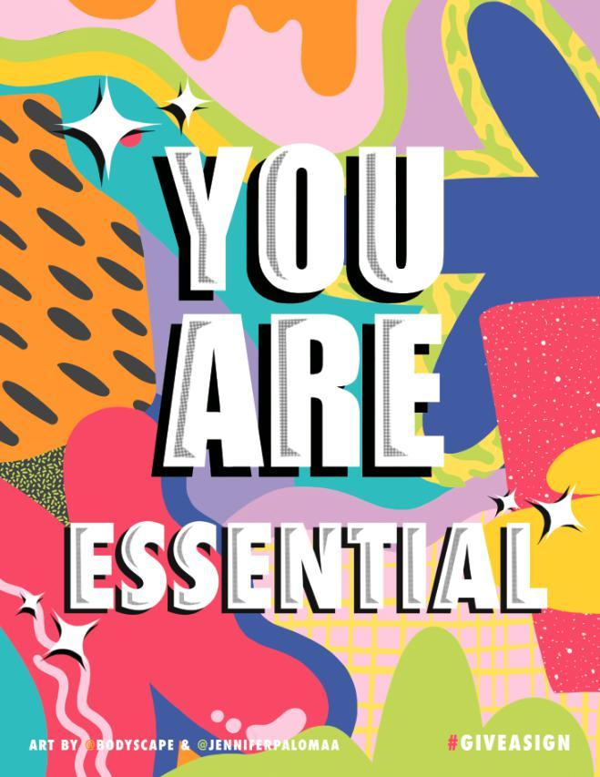 YOU ARE ESSENTIAL by Jennifer Palomaa and Lauren Schleider-Give A Sign-indiesigns