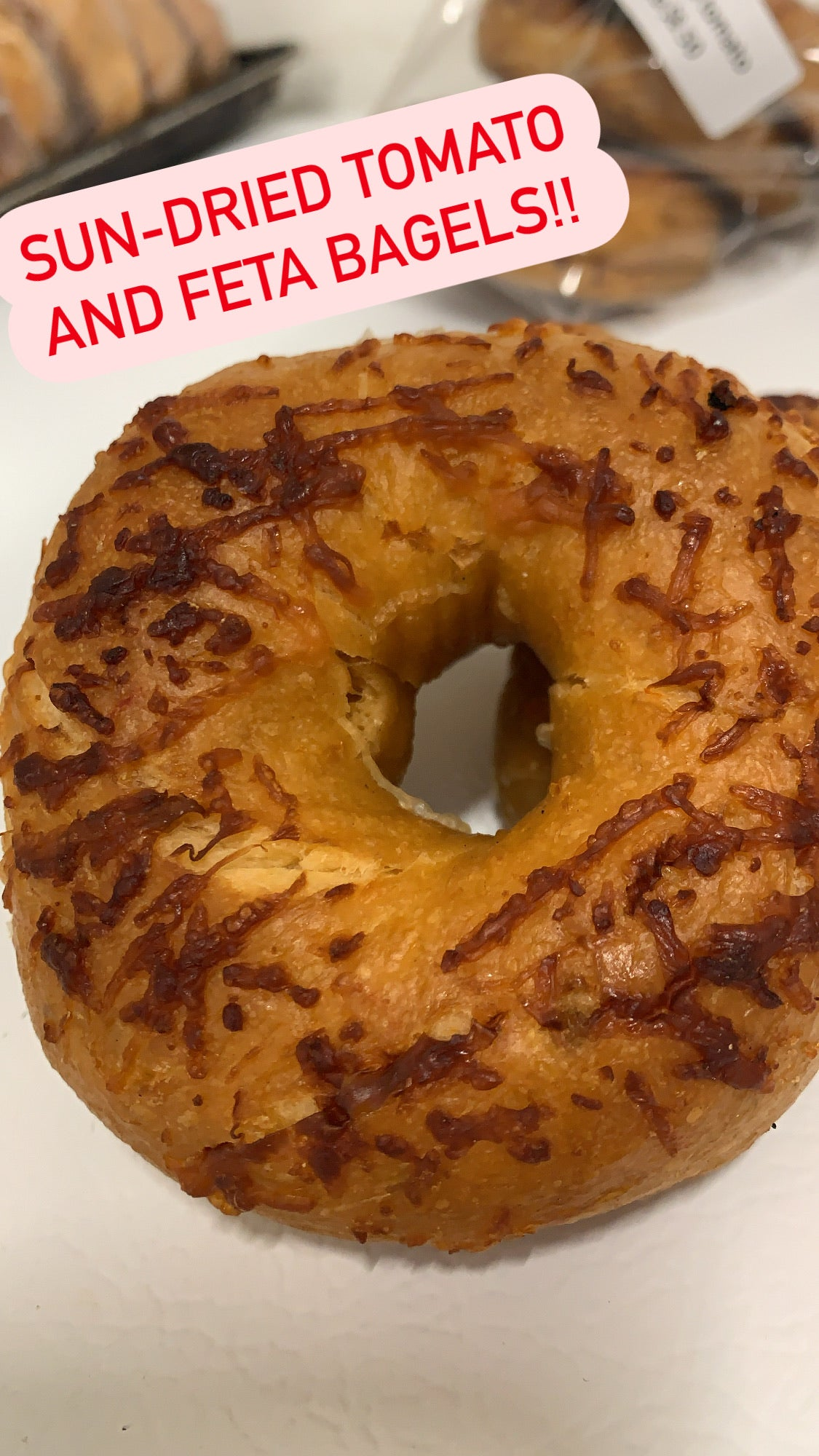 6pkg Sun-dried tomato feta bagel - available Thursday and Fridays