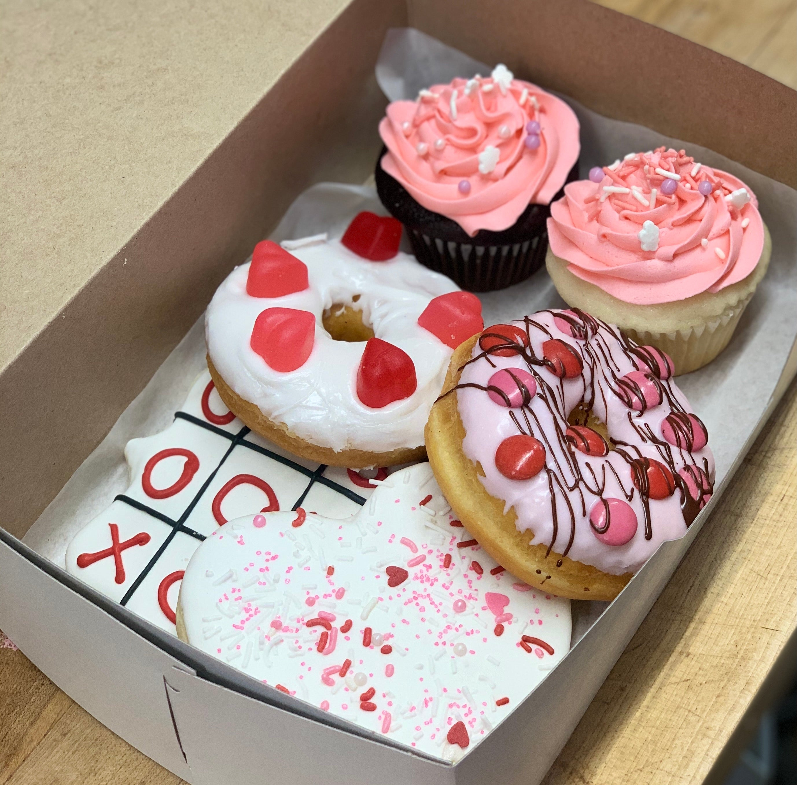 Mixed box of Valentines day goodies