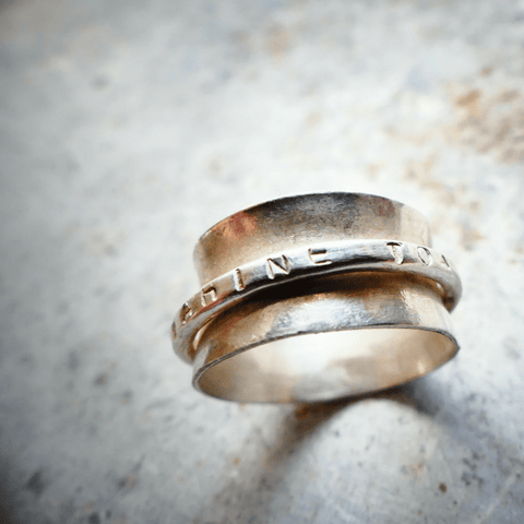 meditation ring in silver