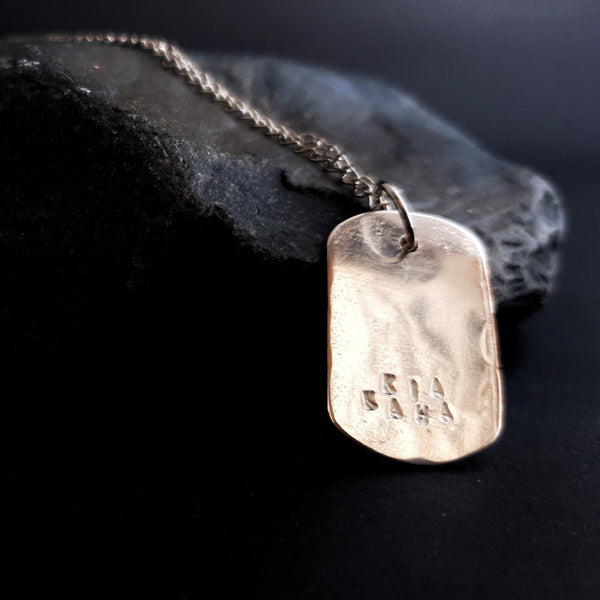 Journey Dogtag Necklace Silver Scars